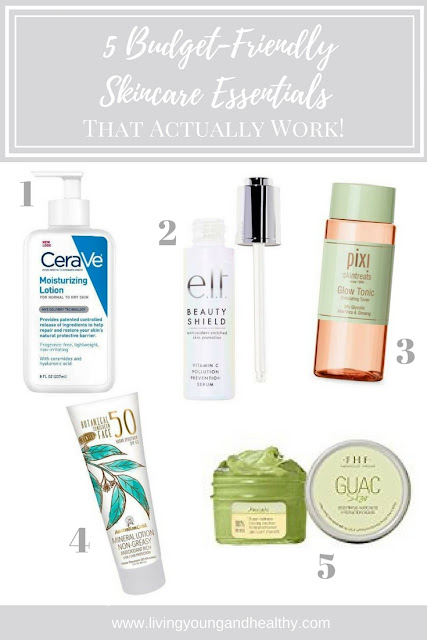 Budget-friendly skincare essentials that are effective for anti-aging and dry, winter skin | www.livingyoungandhealthy.com