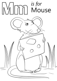 Mm For Mouse Coloring Pages Alphabets