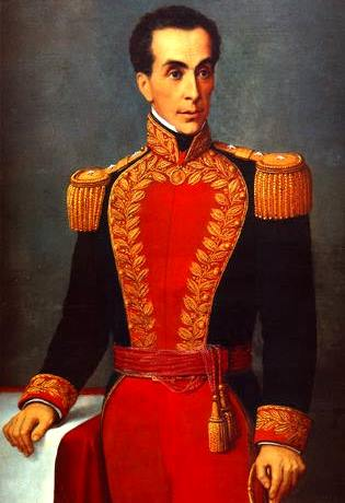 Retrato de Simón Bolivar a color