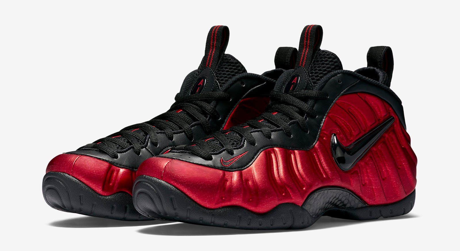 3aa5df6f6e5c1 Nike Air Foamposite Pro University Red University Red-Black Release Reminder