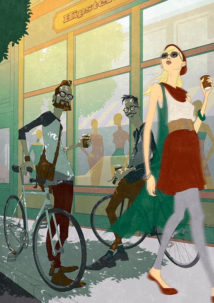 EnBiciArte. Hipster Bikers de Paweł Zawiślak