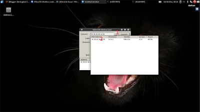 Setelah mengatur jaringan di laptop kita lanjutkan dengan membuka winbox