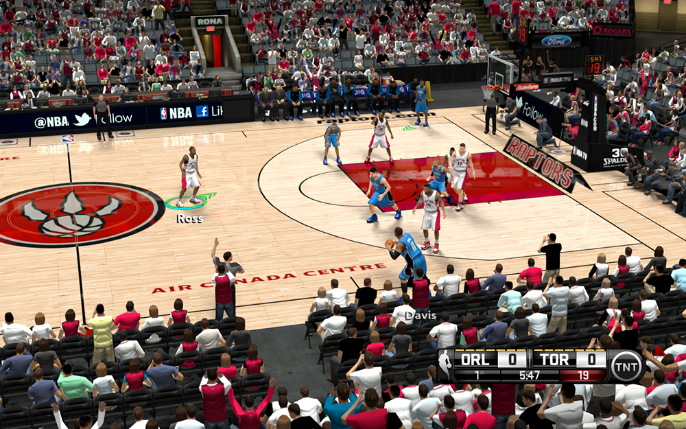 NBA 2K14 Raptors Air Canada Centre Court Mod