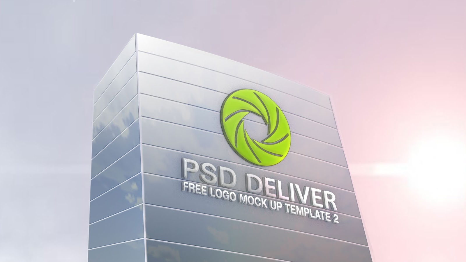 Corporate Building Free Logo Mockup