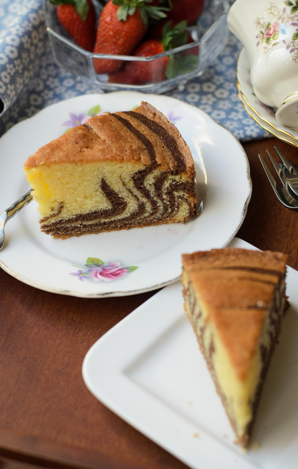 Delicious marble cake
