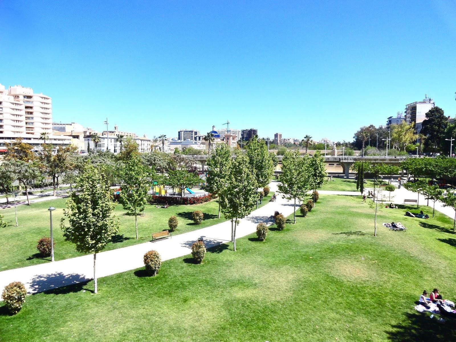 las turias valencia spain view gardens