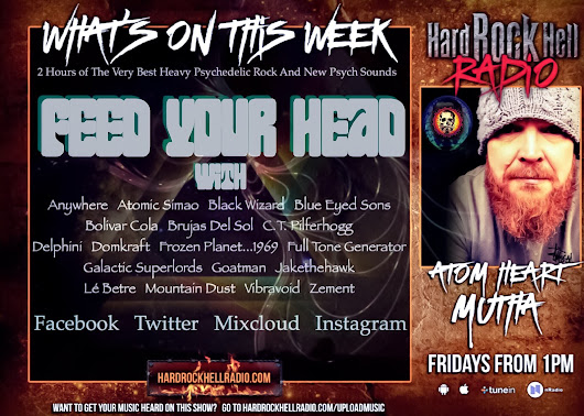 On This Weeks Atom Heart Mutha for Hard Rock Hell Radio.... (19.10.18)