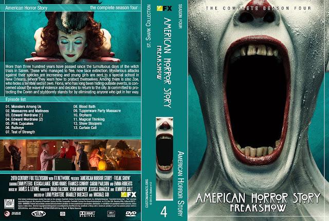 Capa DVD American Horror Story Freakshow Quarta Temporada