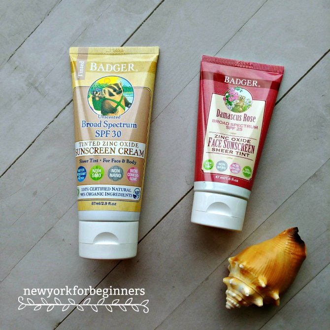 Badger nontoxic physical sunscreens review at www.newyorkforbeginners.com