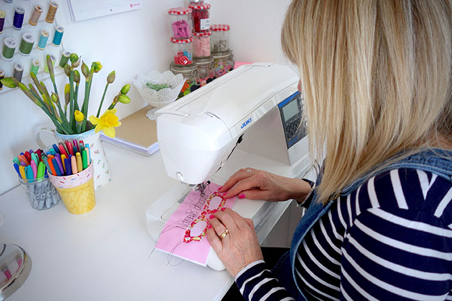 Gina's colourful sewing space