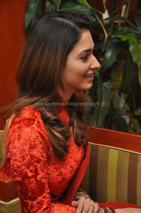 Tamanna cute  in red salwar