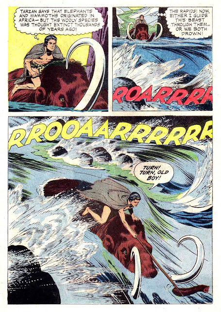 Korak Son of Tarzan v1 #4 gold key silver age 1960s comic book page art by Russ Manning