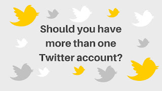 Should you have more than one Twitter account? #SeptVidChallenge