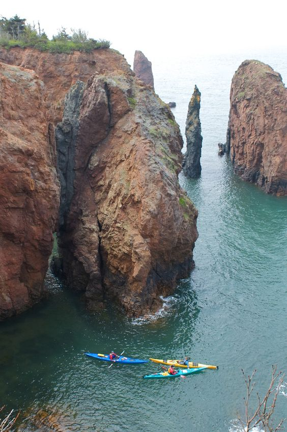 The Bay of Fundy in Canada