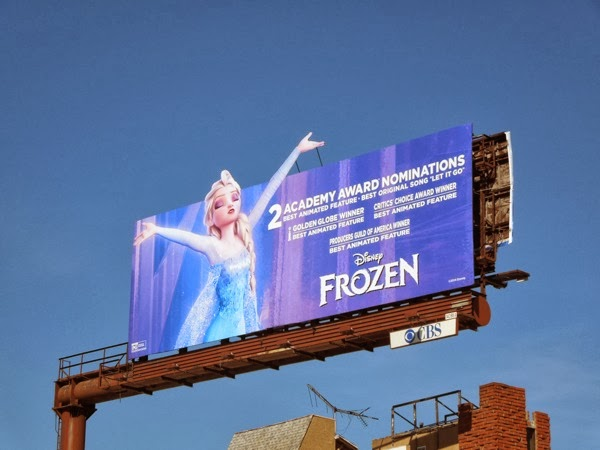 Snow Queen Elsa Frozen Oscar billboard