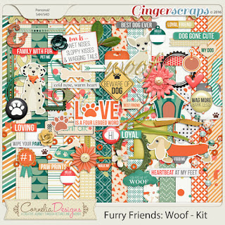 Furry Friends Woof by Cornelia Designs