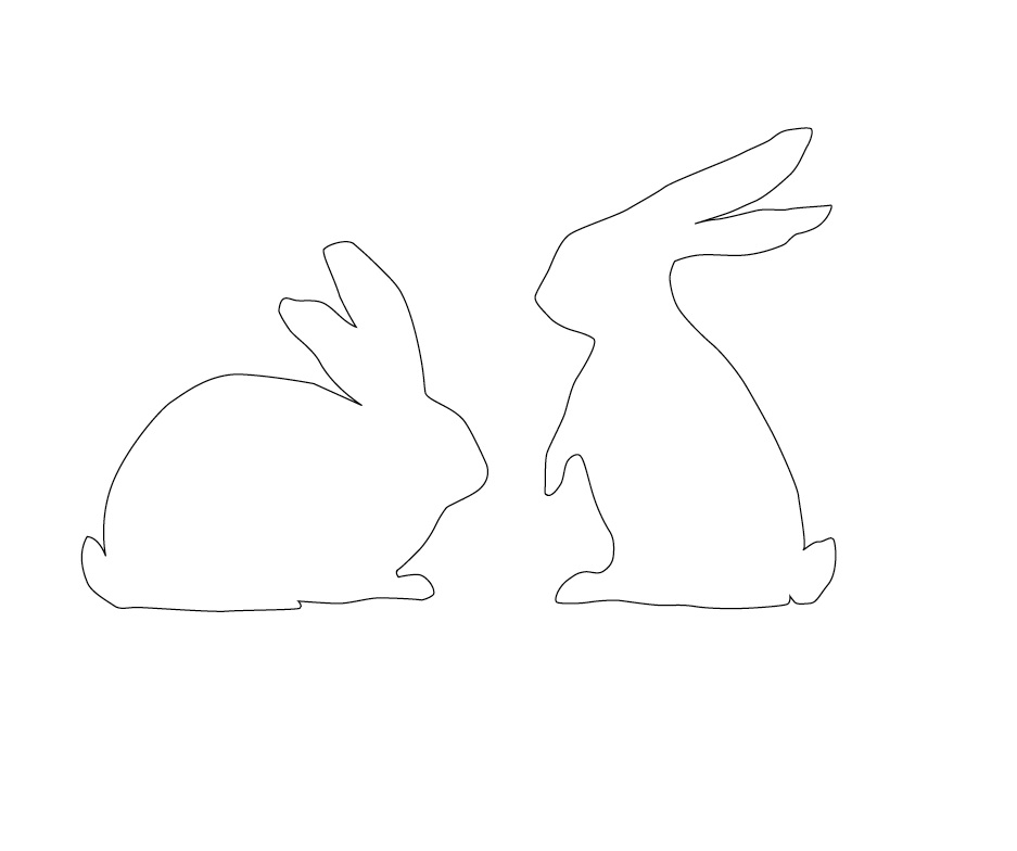 bunny outline printable That are Divine | Derrick Website