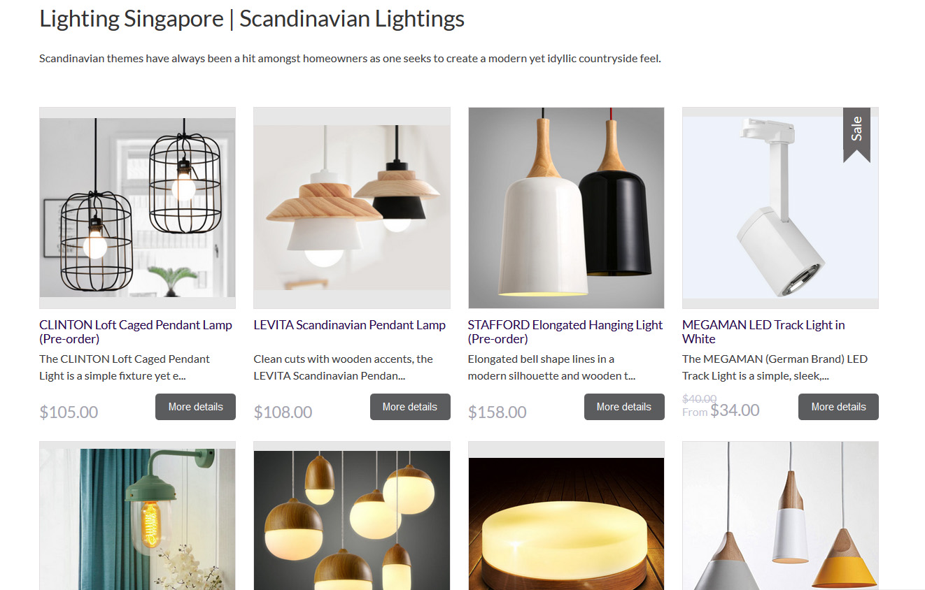 The online catalogue is easy to navigate and very comprehensive you can browse by the type of lights take a look at the best sellers or browse through the