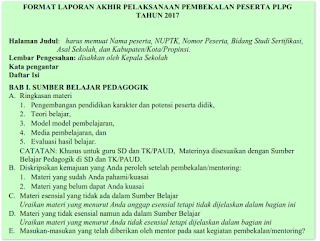 Laporan Akhir Pembekalan Pra PLPG 2017 2018 2019