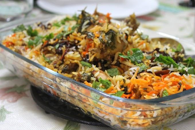 BM #1 - AAE - Day 7 - Hyderabadi Kacchi Gosht Ki Biryani