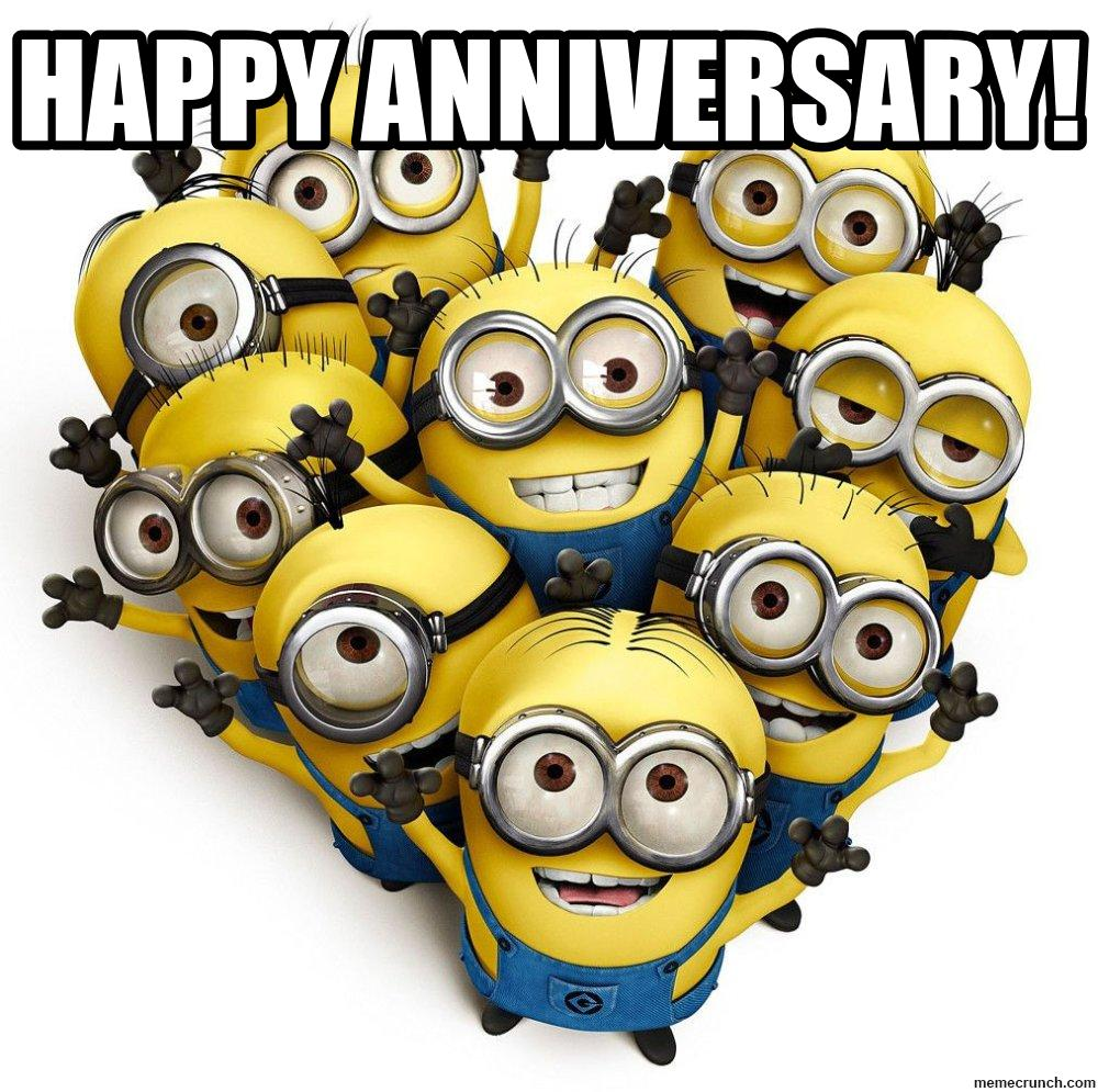 funny minions happy work anniversary images