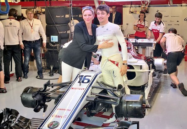 Princess Charlene of Monaco visited Abu Dhabi to watch and support racing driver Charles Leclerc competing in Formula-1 Abu Dhabi Grand Prix