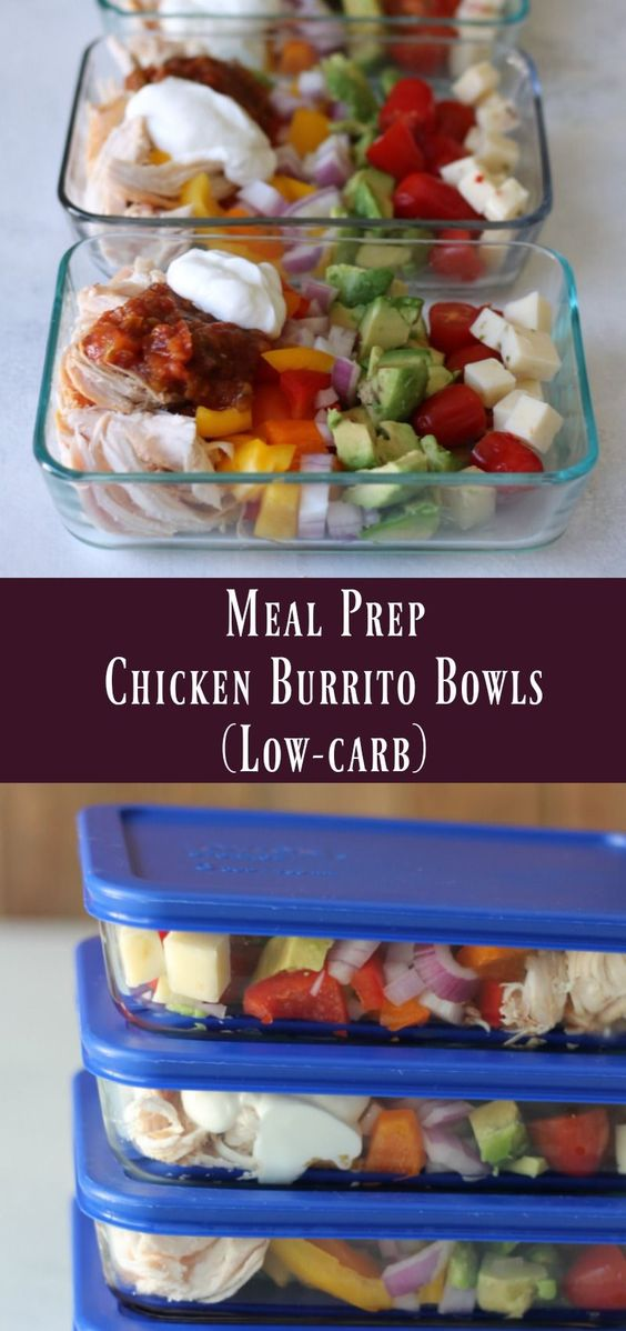 Meal Prep Low-Carb Chìcken Burrìto Bowl