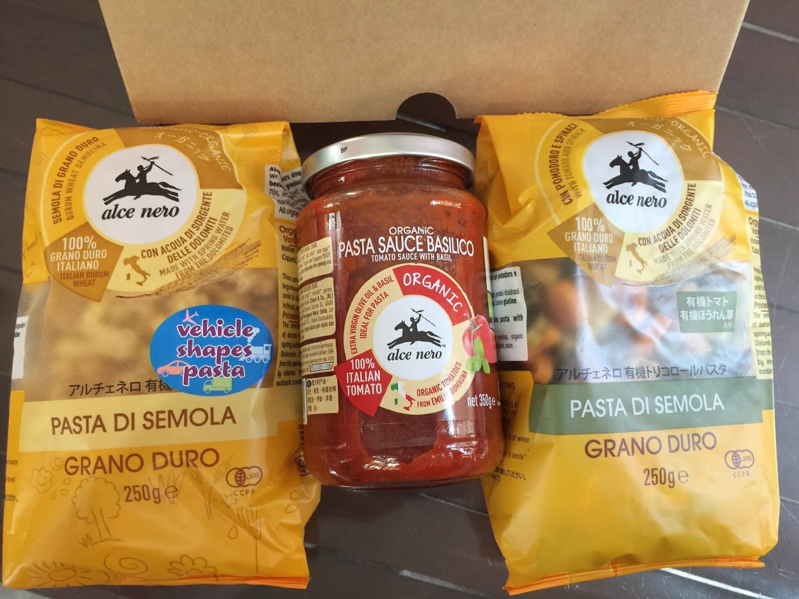 alce nero malaysia, pasta alce nero, pasta untuk anak-anak, makanan organik