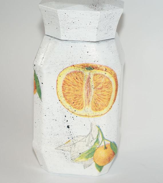 owocowy słoik   soczysta pomarańcza  decu