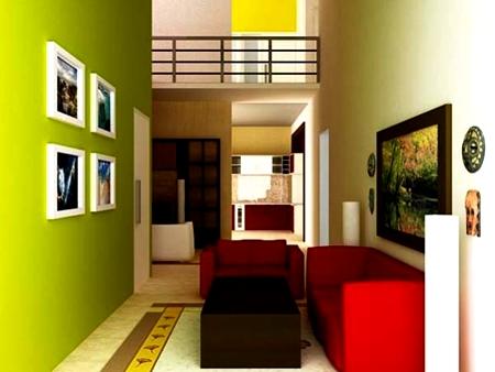 Contoh Warna Cat Ruang Tamu Terbaru 2016