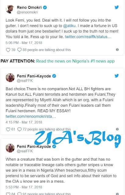You were born in the gutter - Fani Kayode attacks Omokri in Twitter war