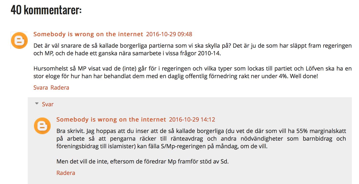 fel på internet