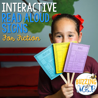 https://www.teacherspayteachers.com/Product/Interactive-Read-Aloud-Signs-for-Fiction-2888702