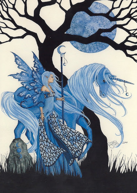 Amy Brown Fairies and Unicorn
