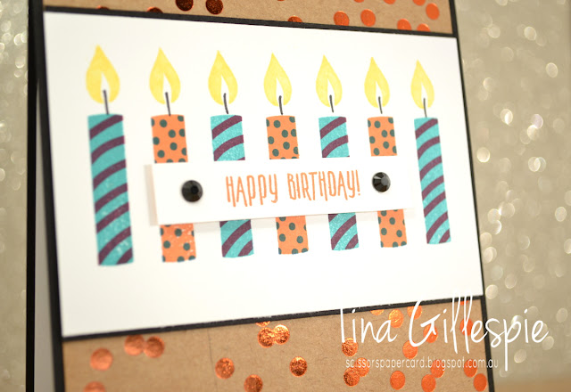 scissorspapercard, Stampin' Up!, Picture Perfect Birthday, Foil Frenzy SDSP, Stamparatus