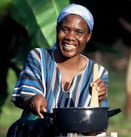 Cooking in Ghana