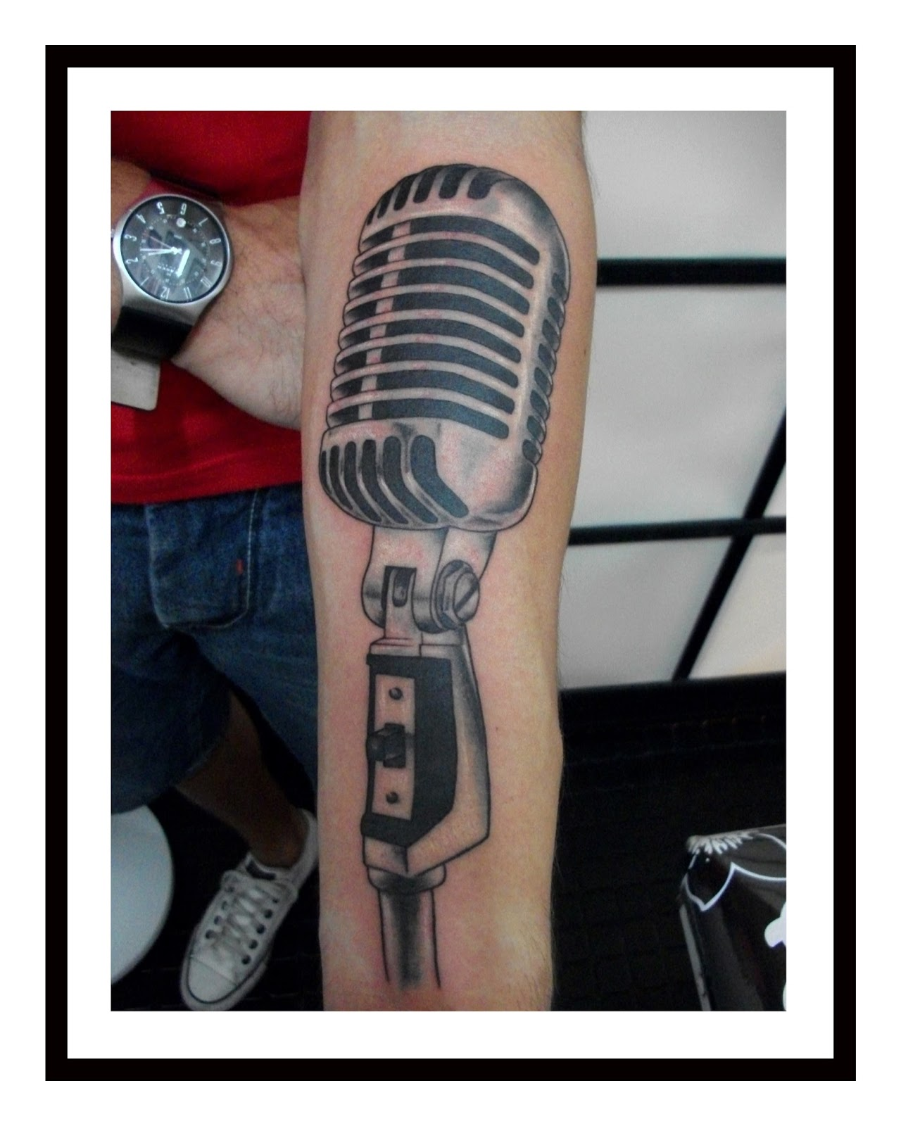 MICROPHONE-TATTOO