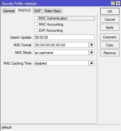 Mikrotik group key exchange timeout