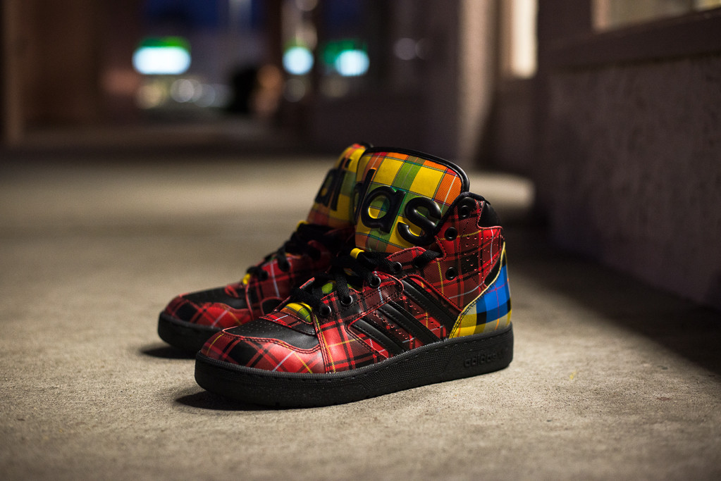 premium selection 37820 6780a Adidas by Jeremy Scott – Instinct Hi Plaid