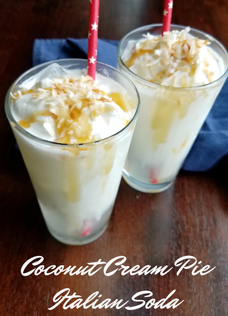 A perfect summer treat, these coconut cream pie Italian sodas are the perfect mix of sweet and refreshing.  Cool down by the pool or enjoy as a simple dessert, there are so many ways to enjoy these delicious drinks!