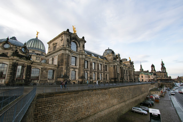 Vista dalla Bruhlsche terrace-Dresda