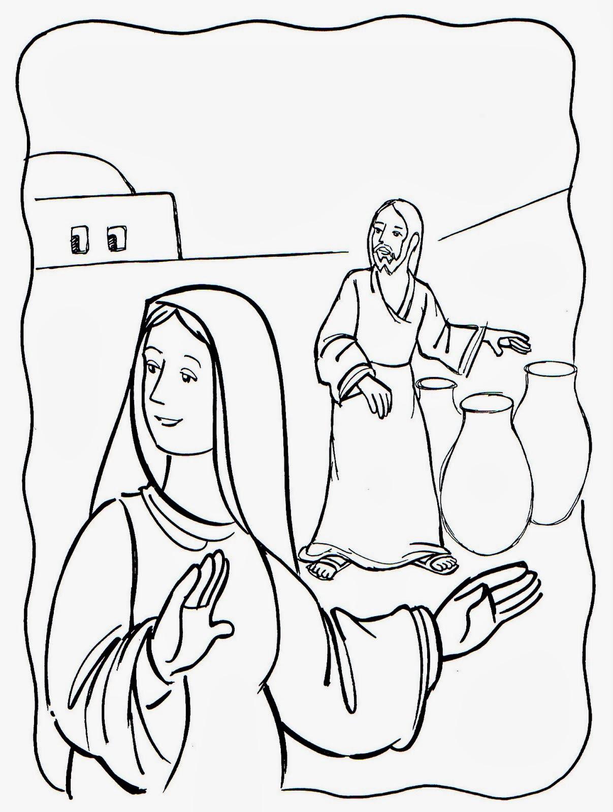 El Renuevo De Jehova: Las bodas de Cana - Imagenes para colorear ...