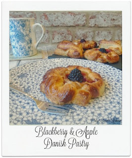 These homemade Danish Pastries were shaped into a 'flower'' and topped with a classic autumn flavour combination of blackberry and apple. Post contains a 'how to video'.