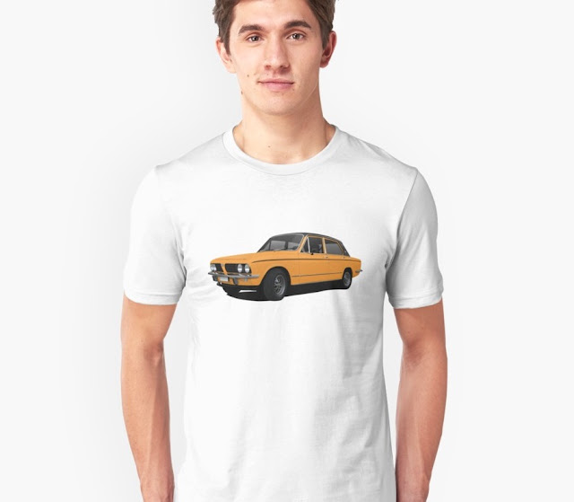 Yellow classic car Triumph Dolomite Sprint t-shirt