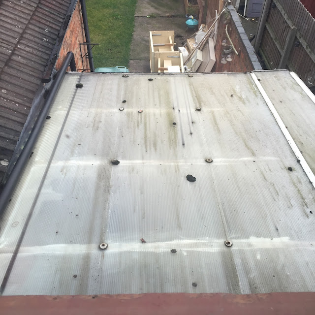 dirty polycarbonate conservatory roof