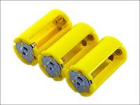 ニサク 電池スペーサー 単3電池を3本まで入れられる単1電池スペーサー