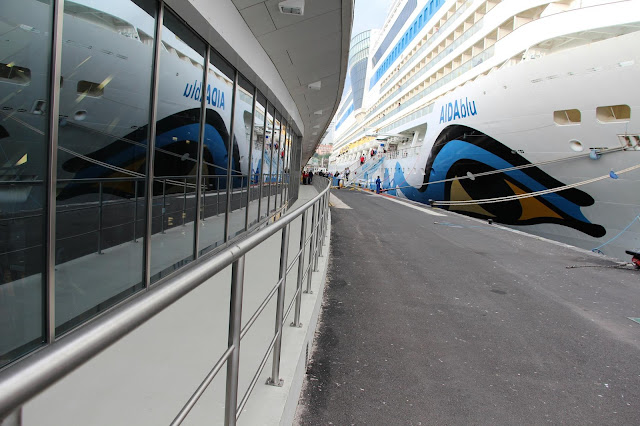 Cruise Ship AIDAblu in duplicate