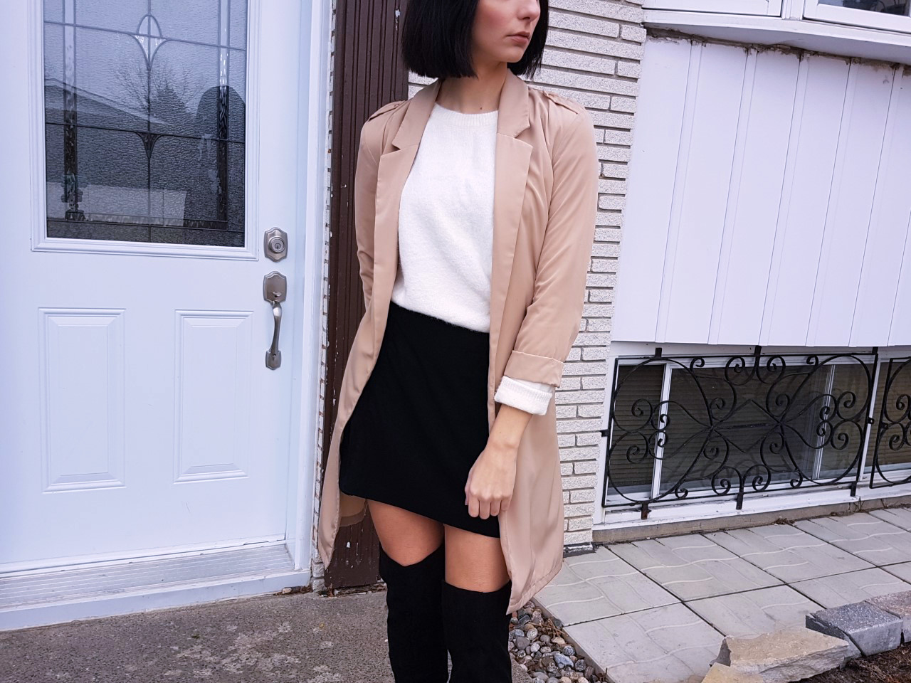 ootd, fashion, ALDO, H&M, ZARA, fashion blogger, street style, over the knee boots