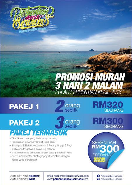 Pakej Promosi Murah 3 hari 2 malam Pulau Perhentian Kecil 2016 untuk 2 orang sebilik dan 3 orang sebilik, Pulau Perhentian Kecil, Pulau Perhentian, Terengganu, Malaysia.