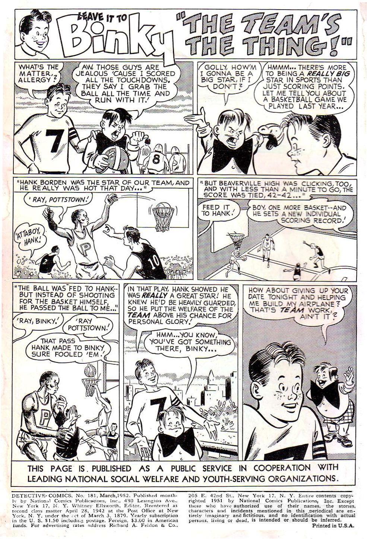 Read online Detective Comics (1937) comic -  Issue #181 - 2